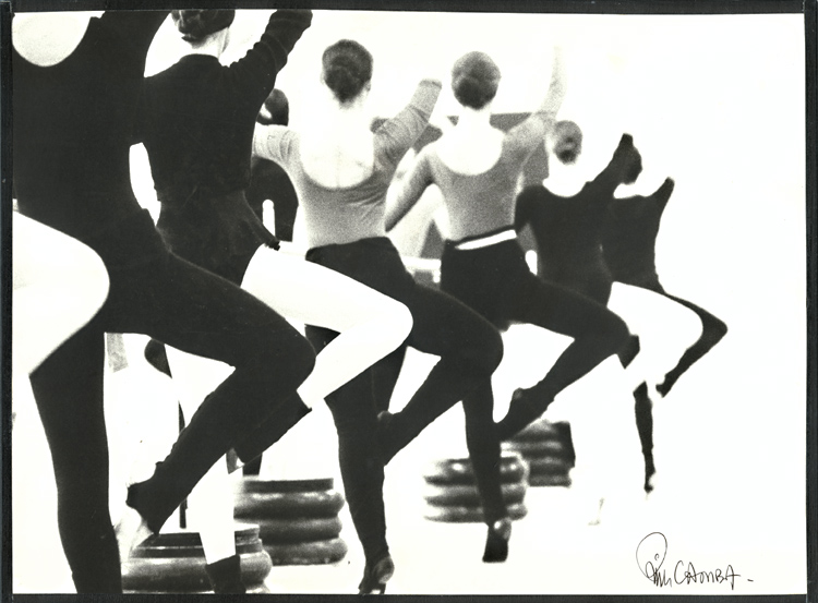 Ballerinas at the Barre in Retiré