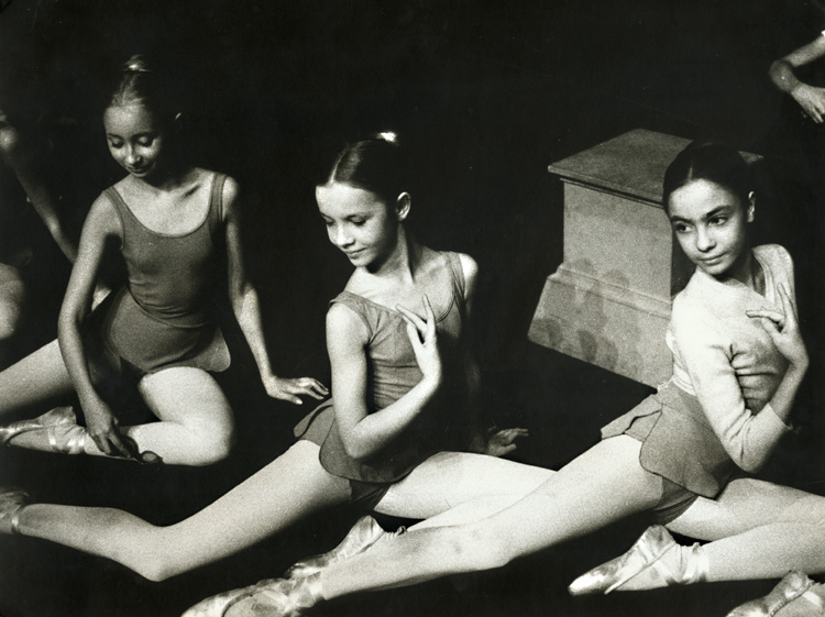 A Trio of Young Ballerinas
