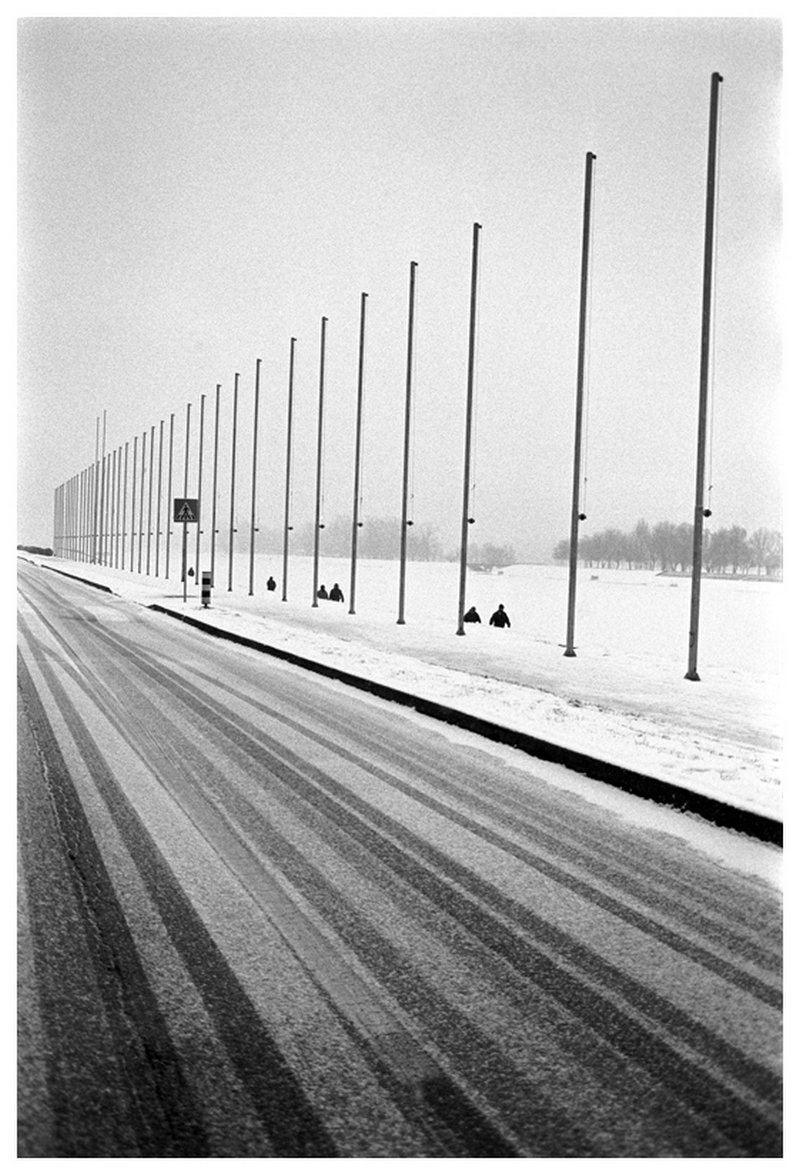 Road in Snow, Zagreb,Croatia