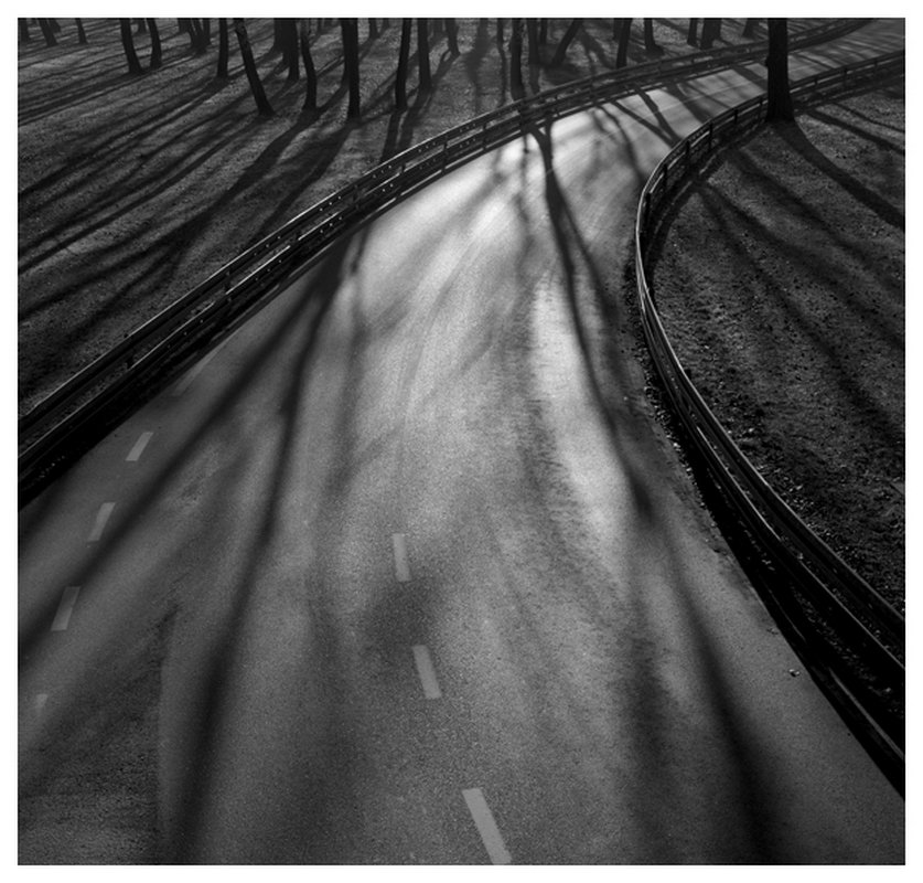 Road with Light and Shadows, Zagreb,Croatia