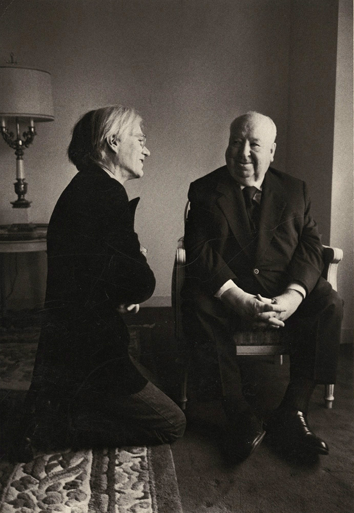 Andy Warhol and Alfred Hitchcock, New York City