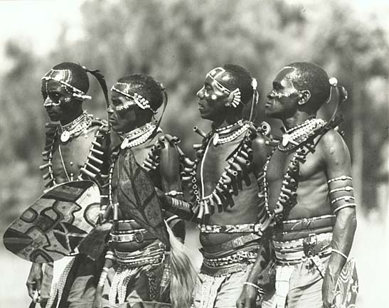Kikuyu, East Africa (Four Ceremony Dancers)