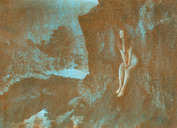 Linda #24 (Female Nude on Cliff Face)