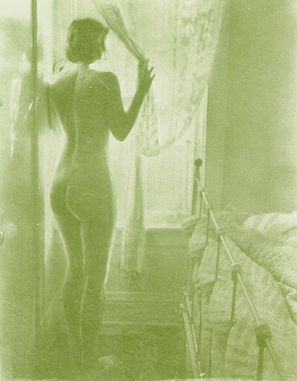 Susan (Female Nude at Window in front of Brass Bed)