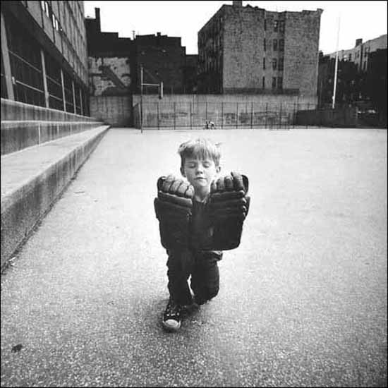 Child with Hockey Gloves, Hell's Kitchen, New York