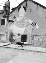 Stanko Abadžic - Mural of Caesar and Dog in Split, Croatia Click for more Images