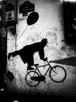 Stanko Abad�ic - Bicycle Art on Wall Click for more Images